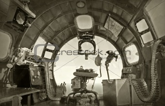 Old bomber cockpit