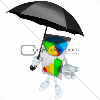 Business Report With Umbrella