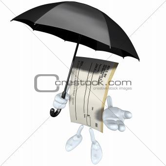 Blank Check With Umbrella