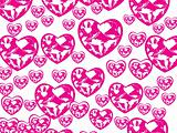 beautiful heart with swirl design