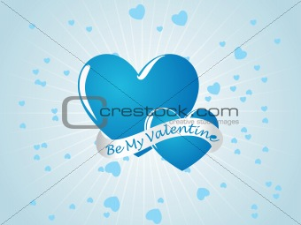 sky blue valentine card