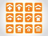 orange icons for multiple use