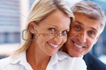 Portrait of a happy business couple