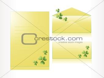patrick's day envelop, letterhead, postcard
