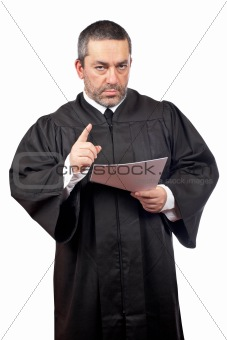Judge reading the sentence