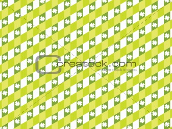 artistic oblige panel pattern with clover background 17 march