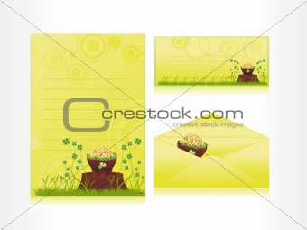 abstract gold coins earthenware letterhead