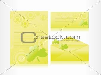 postalcard, mailingcard, letterhead with clover