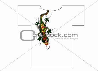 bright lizard for T-shirt