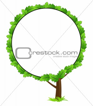 Blank tree frame icon