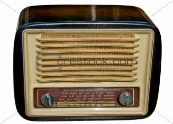Old-fashioned radio