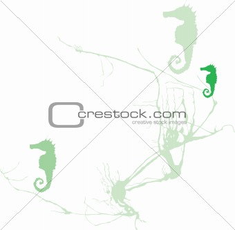 Seahorse and Seaweed #2