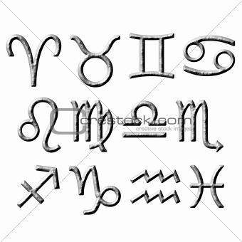 3D Stone Zodiac Signs