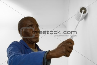 Painter using a Paint Roller