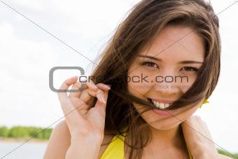 Flirtatious female
