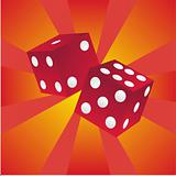dices on colorful background