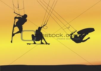 kite boarding Ariel jumps
