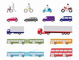 set of road transport vehicles