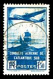 rare vintage aircraft stamp