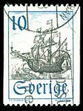 vintage stamp depicting a sailing ship