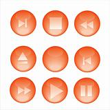 set of 9 audio buttons