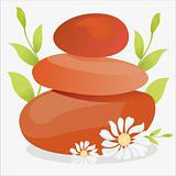 spa illustration with therapy stones
