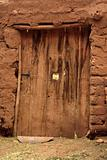 old damaged door