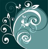 floral curves background