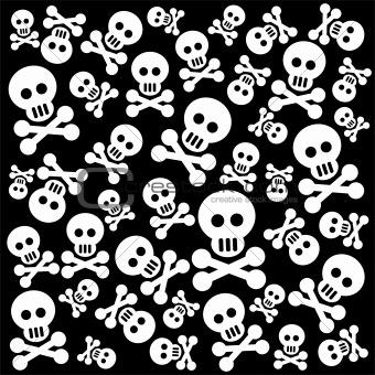 skulls background