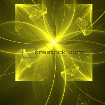 Abstract background. Yellow - black palette.