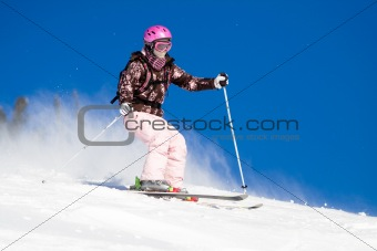 Riding on skis