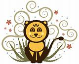 Cheerful Lion Illustration