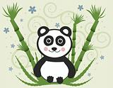 Cheerful Baby Panda