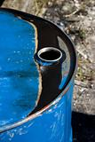 dirty oil drum