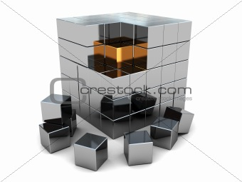 abstract cube puzzle