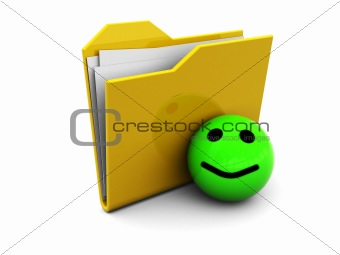 folder icon with smiley