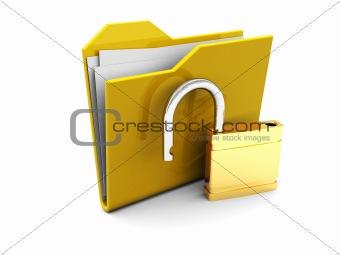 folder icon with lock