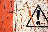 abstract warning sign