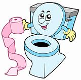 Cartoon toilet