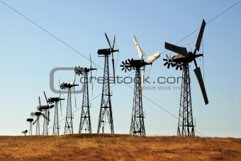 A group of windmills