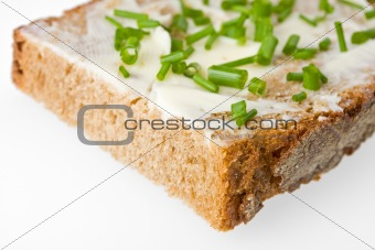 bread and butter and chives