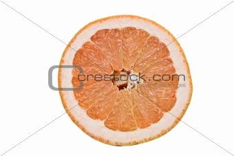 Slice of ruby grapefruit