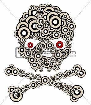 Skull made from circles