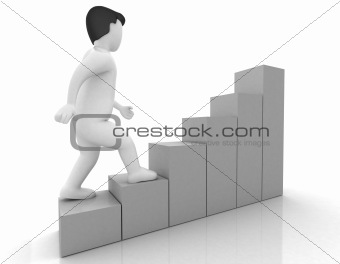 3d human stepping up