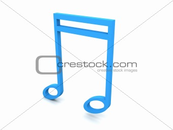 three dimensional note in blue color