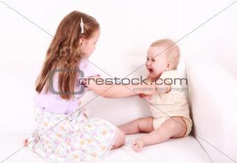 Adorable kids playing