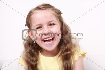 Cute little girl laughing