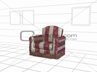 Armchair 3d