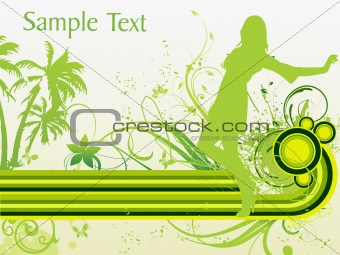 artistic background with girl silhouette