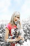 blond girl desaturate color